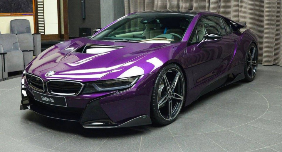 Special Color On This Bmw I8 Made By Abu Dhabi Dealer