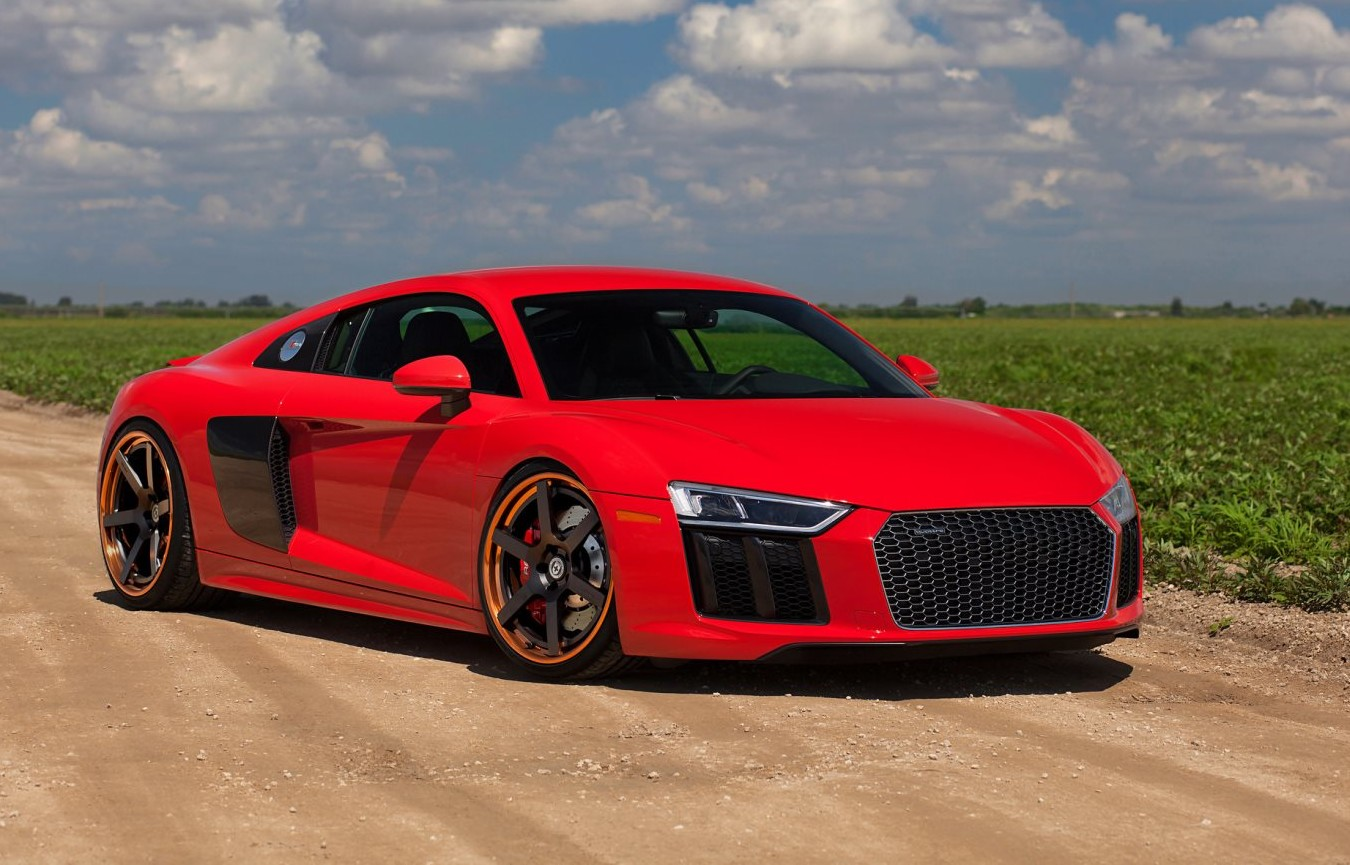 2017 audi r8 v10 on satin black hre wheels. Black Bedroom Furniture Sets. Home Design Ideas