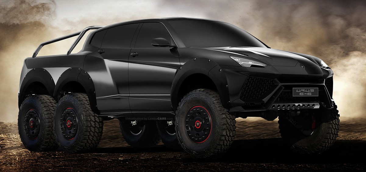 lamborghini urus 6x6 threat to mercedes g63 amg 6x6. Black Bedroom Furniture Sets. Home Design Ideas