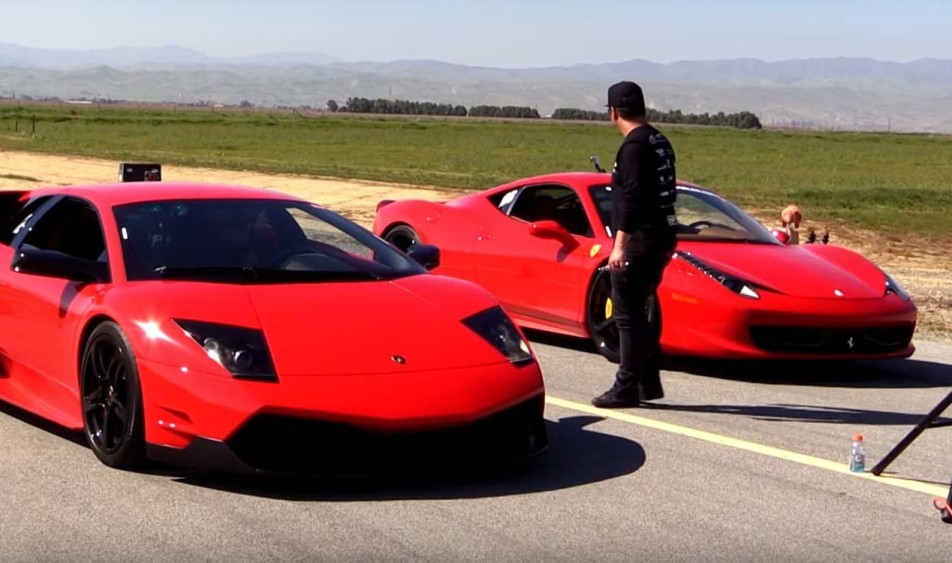 ferrari 458 italia humiliated in a drag race. Cars Review. Best American Auto & Cars Review