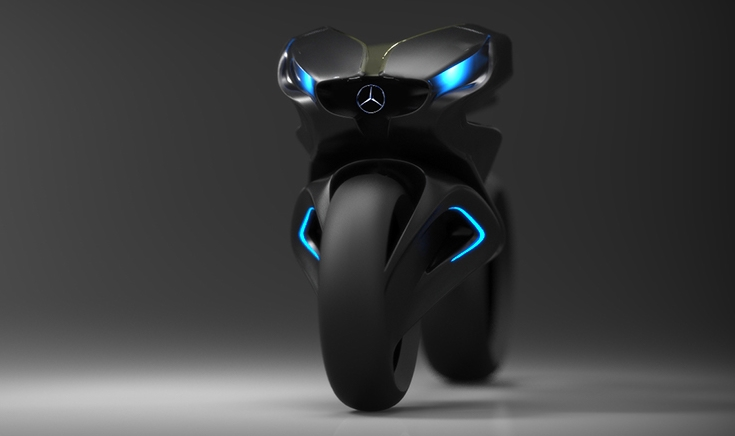 New Bike Hd >> 2030 Mercedes-Benz Future Motorcycle, The Revenge!