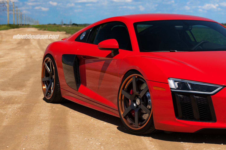 2017 Audi R8 V10 On Satin Black Hre Wheels