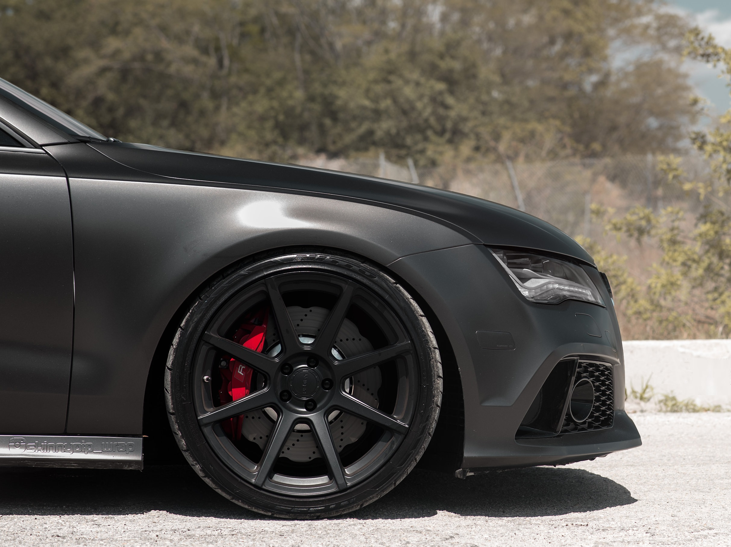 Matt Black Audi Rs7 On Velgen Wheels