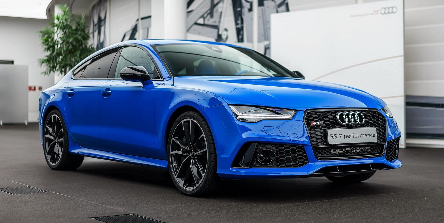 Audi Rs7 In Porsche S Voodoo Blue Color