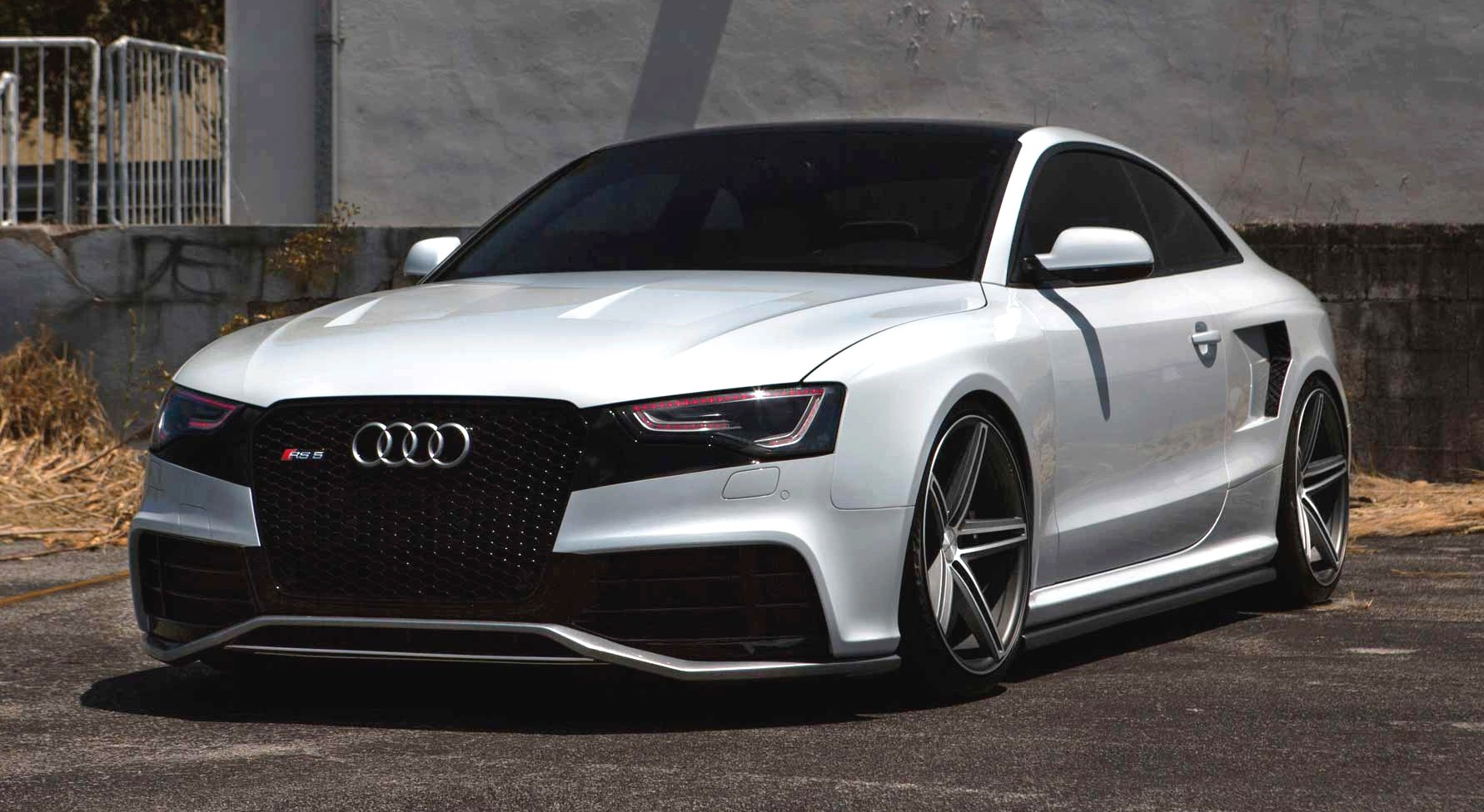 Angry Audi Rs5 On Vossen Wheels