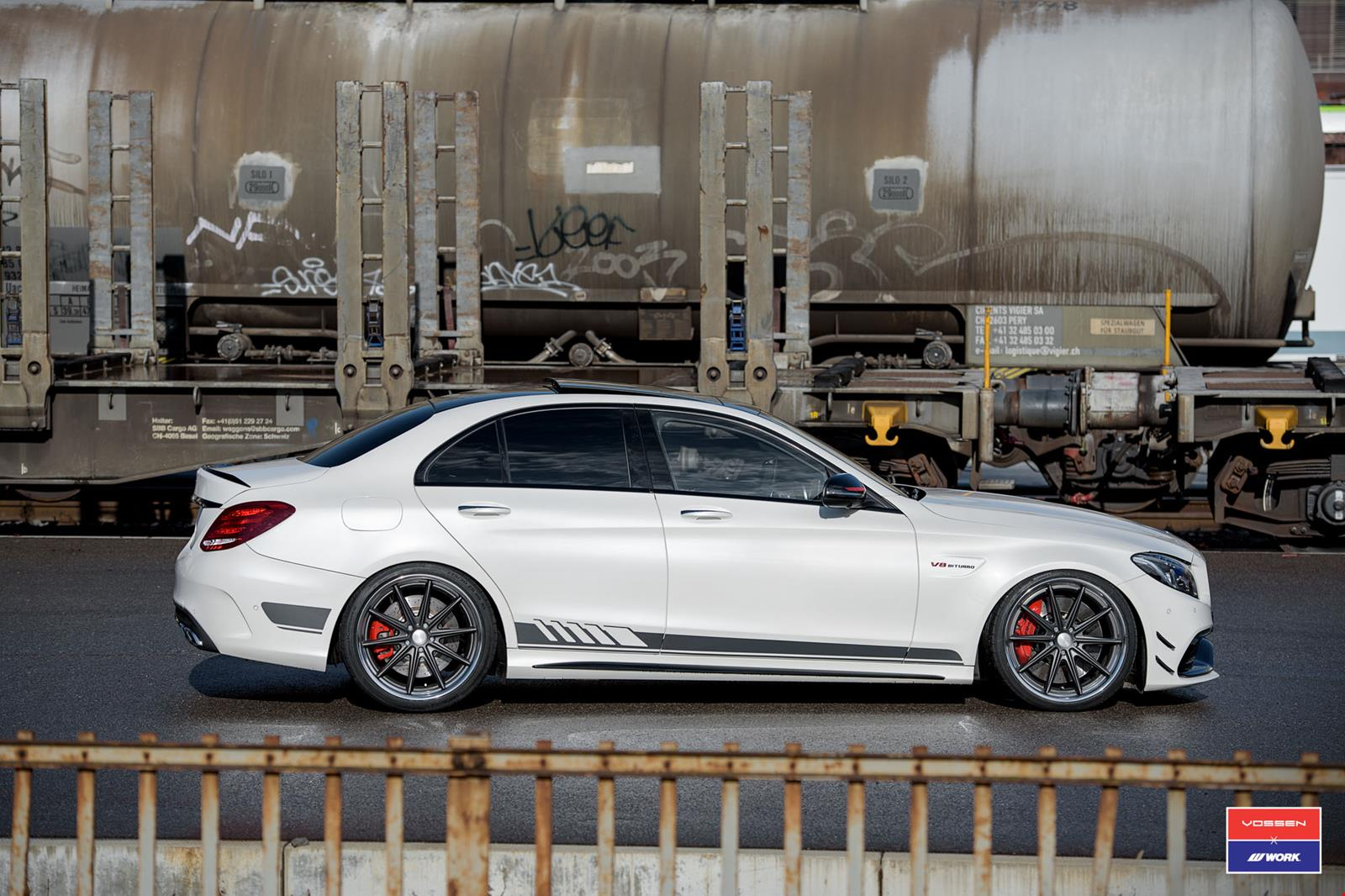 Mercedes Amg C63 S Edition 1 On Vossen Wheels