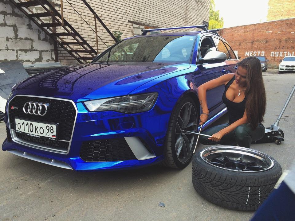 Dark Blue Chrome Audi Rs6 Sexy