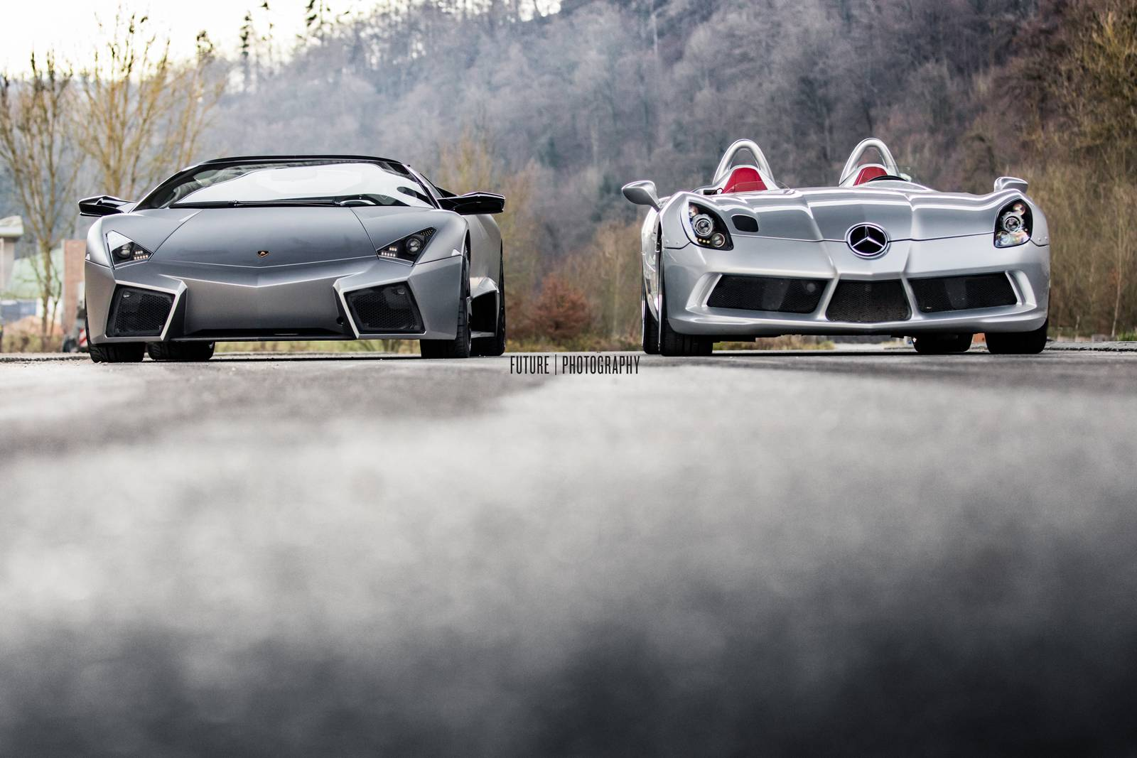 lamborghini reventon roadster and slr stirling moss photo shoot. Black Bedroom Furniture Sets. Home Design Ideas