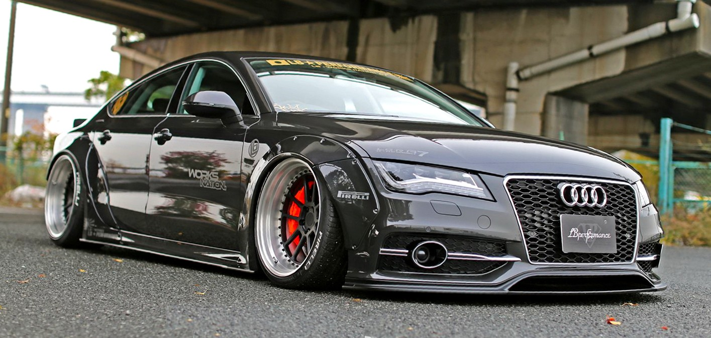 audi a7 s7 new widebody kit by liberty walk. Black Bedroom Furniture Sets. Home Design Ideas