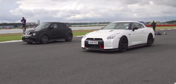 Watch That Crazy Race Between Nissan Gt R Nismo And Nissan