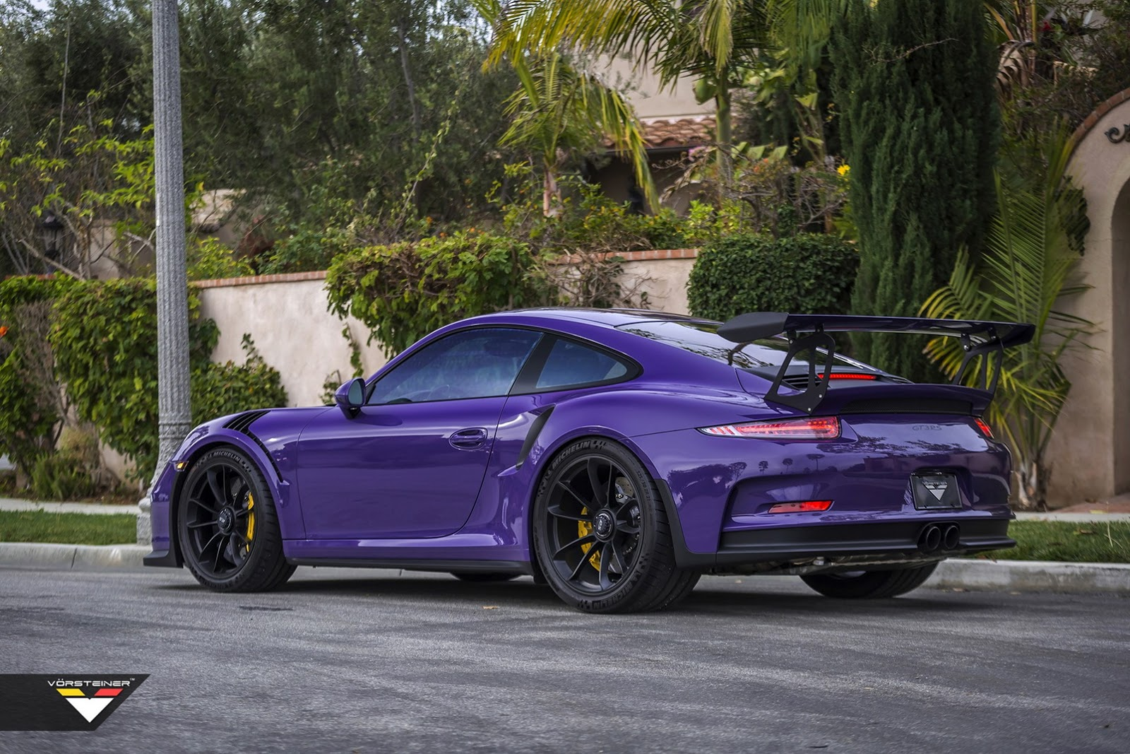 purple beast vorsteiner goes to town on porsche 911 gt3 rs. Black Bedroom Furniture Sets. Home Design Ideas